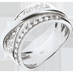 Anello Regale Saturno - variazione - Oro bianco - 18 carati - Diamanti - 0.27 carati