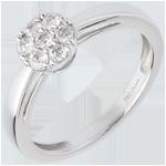 regalo donna Anello Semisfera pavé - Oro bianco - 18 carati - Diamante - 0.26 carati
