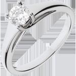 comprare on-line Anello Solitario Diadema - Oro bianco - 18 carati - Diamante - 0.47 carati