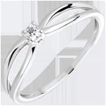 Anello Solitario Ella- Oro bianco - 18 carati - 1 Diamante