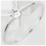 matrimoni Anello Solitario Purezza preziosa - Oro bianco - 18 carati - Diamante - 0.30 carati