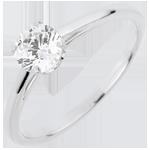oreficeria Anello Solitario - Purezza preziosa - Oro bianco - 18 carati - Diamante - 0.50 carati