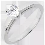 gioiello Anello Solitario - Raffinatezza - Oro bianco - 18 carati - Diamante -0.50 carati
