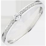Anello Solitario Ultima - Oro bianco - 9 carati - 23 Diamanti - 0.14 carati