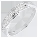 comprare Anello Treccia preziosa - Oro bianco - 18 carati - 25 Diamanti - 0.16 carati