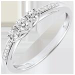 compra on-line Anello Trilogia Lavia - Oro bianco - 9 carati - 13 Diamanti - 0.23 carati