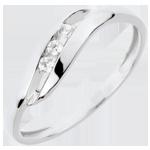 gioielleria Anello Trilogia Nido Prezioso - Chérie- Oro bianco - 18 carati