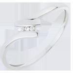 Anello Trilogia Nido Prezioso - Serena - Oro bianco - 18 carati