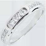 Anello Trilogy Helwen - Oro bianco - 9 carati - 13 Diamanti - 0.24 carati
