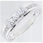 regalo donna Anello Trilogy Hérine - Oro bianco - 9 carati - 13 Diamanti - 0.24 carati