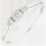 gioiello oro Anello Trilogy - Prima stella - Oro bianco - 9 carati - 3 Diamanti