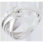 Anello Trilogy Treccia - Oro bianco - 18 carati -Diamanti - 0.26 carati