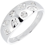 Anello Tutti-frutti - Oro bianco - 18 carati - 8 Diamanti