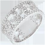 regalo donna Anello Varda - Oro Bianco - 9 carati - Diamante