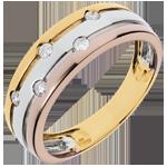 vendite on-line Anello Via Lattea - Oro bianco,Oro giallo e Oro rosa - 18 carati - 5 Diamanti - 0.13 carati