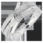 Anello Vortice - Oro bianco - 18 carati - 6 diamanti