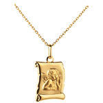 gift woman Angel Raphael Parchment Medal - 16mm