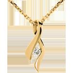 Geschenke Anhänger das Kostbarer Kokon - Unendlichkeit - Gelbgold- Diamant