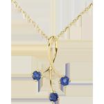 Juweliere Anhänger Étincelles Gelbgold - Saphir