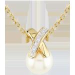 Geschenke Frauen Anhänger Perle croisée