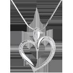 Hochzeit Anhänger Sinnliches Herz - 10 Diamanten