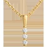online kaufen Anhänger Trilogie Talisman in Gelbgold - 3 Diamanten