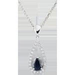 Online Kauf Anhänger Tropfen Soraya - Saphir und Diamant