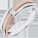 Anilla Brillo Eterno - Salomé - oro rosa - diamante 0.10 quilates - 18 quilates