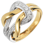 Anillo Amor eternal - oro blanco y oro amarillo 18 quilates