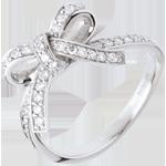 Anillo anudado diamantes - oro blanco - 0.42 quilates