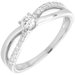 joya en oro Anillo de compromiso Destino - Eternidad - oro blanco - 18 quilates