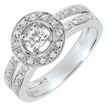Anillo de compromiso Destino - Lady - diamante 0.16 quilates - oro blanco 18 quilates