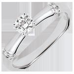 joya en oro Anillo de compromiso jungla Sagrada - diamante 0,2 quilates - oro blanco 9 quilates