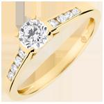 Anillo de compromiso solitario Alteza - diamante 0.4 quilates - oro amarillo 18 quilates