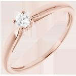 regalo mujer Anillo de compromiso Solitario oro rosa