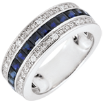 regalo mujer Anillo Constelación - Zodiaco - zafiros azules y diamantes - 9 quilates