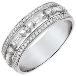 Anillo Destino - Pequeña Emperatriz - 68 diamantes - oro blanco de 9 quilates