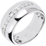 Anillo Hada - Brillo de Luna - oro blanco - 11 diamantes - 0.37 quilates