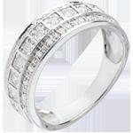 Anillo Hada - Galaxia - oro blanco 18 quilates - 33 diamantes 0. 28 quilates