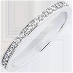 Anillo de Matrimonio Origen - Purpurina - oro blanco de 18 quilates y diamantes