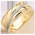 Anillo Palma - oro amarillo 18 quilates y diamantes