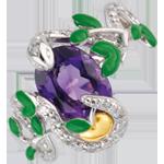 mujer Anillo Paseo Soñado - Serpiente del edén - Plata, diamantes y piedras finas