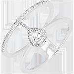 Anillo Serafina - oro blanco de 18 quilates y diamantes