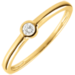 Anillo solitario Mi diamante- oro amarillo - 0.08 quilates