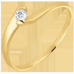 Anillo solitario Nido Precioso - Pasión Eterna - oro amarillo 18 quilates - diamante 0.08 quilates