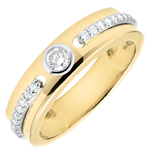 Anillo Solitario Promesa - oro amarillo y diamantes