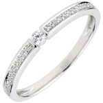 Anillo Solitario Ultimi - oro blanco 9 quilates - diamante 0,05 quilates