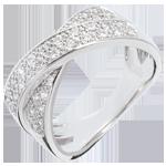 Anillo tandem empedrado - 0.5 quilates - 36 diamantes