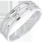 Anillo Tarde de Verano - oro blanco 18 quilates y diamantes