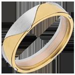 Anneau Arlequin - trois ors 18 carats
